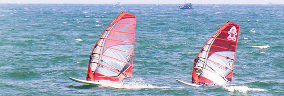 independent windsurfing lessons at VKS